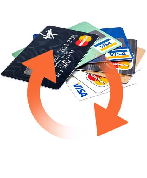 VISA to Mastercard money transfer system that is easy to implement. With customizable & flexible commisions.